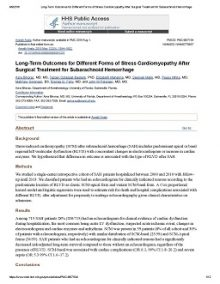 "Thumbnail of PDF article titled ""Long-Term Outcomes for Different Forms of Stress Cardiomyopathy After Surgical Treatment for Subarachnoid Hemorrhage."""