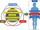 Figure 4. Similarities and redundancies in the pathophysiology of patients with sepsis, cancer, and advanced age.
