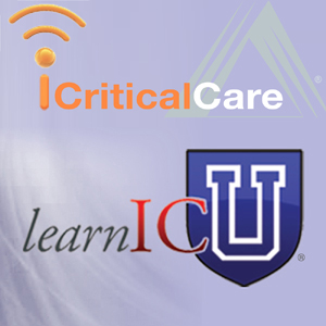 logos saying iCriticalCare and learnICU