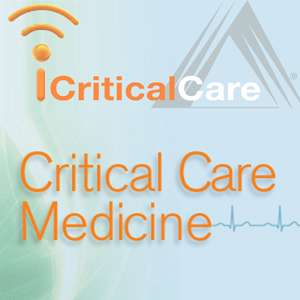 "logo of iCriticalCare. Below logo it says ""Critical Care Medicine"""